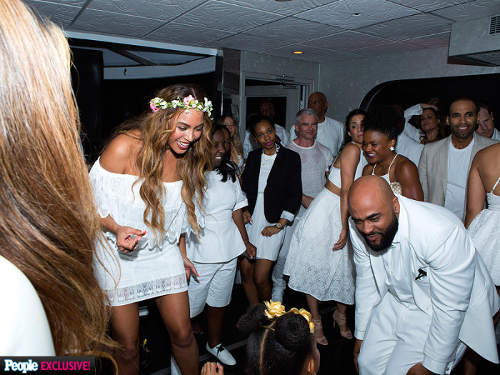 Tina Knowles and Richard Lawson's Wed In All White 5