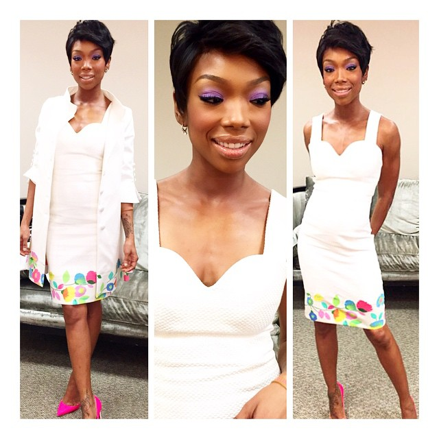 Sensational We Love It Brandy Tries Out Pixie Haircut Trend The Style News Short Hairstyles Gunalazisus