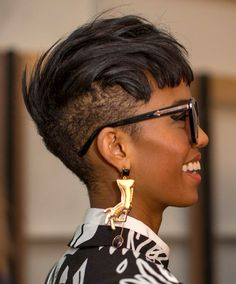Shaved Hairstyle Ideas For Black Women 10