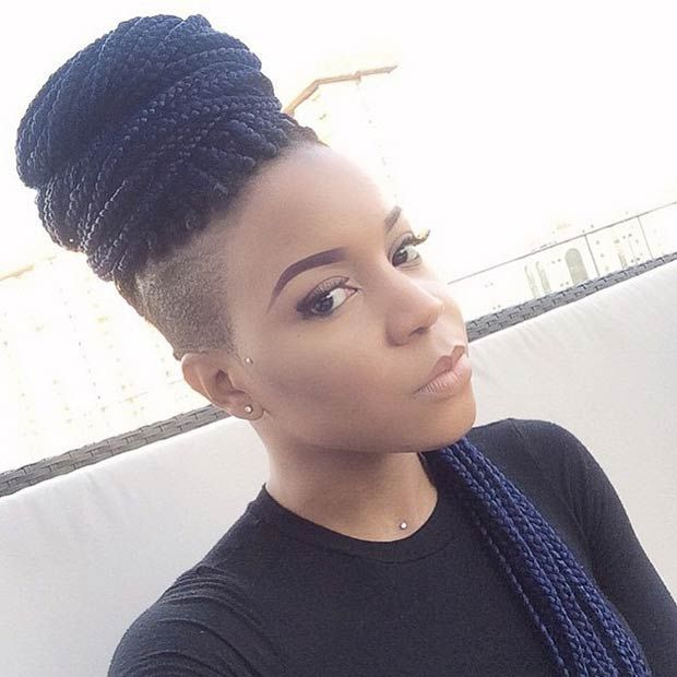 Shaved Hairstyle Ideas For Black Women 17