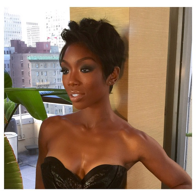 Pleasant We Love It Brandy Tries Out Pixie Haircut Trend The Style News Short Hairstyles Gunalazisus
