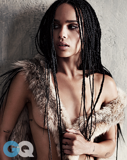 Zoe Kravitz Looks Smoking Hot In Latest Issue of GQ Magazine 2