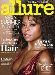 On The Cover - Taraji P. Henson Fronts Allure Magazine For July 2015 Issue