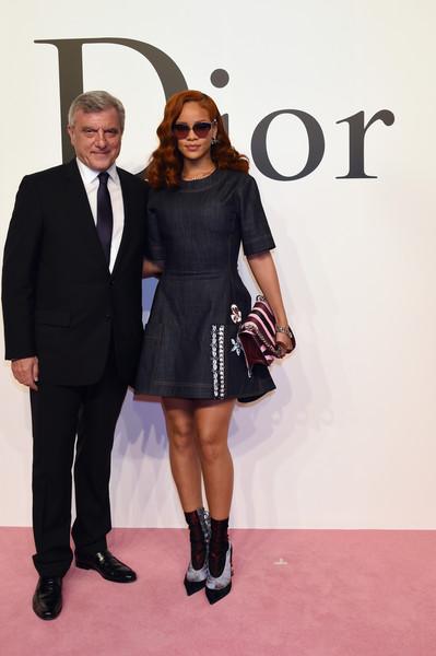 Slayed - Rihanna Spotted In Custom Dior Denim Dress 4