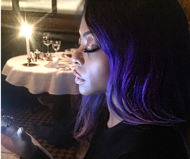 Taraji P. Henson Follows Bold Hair Color Trend and Dyes Hair Purple & Gray 3