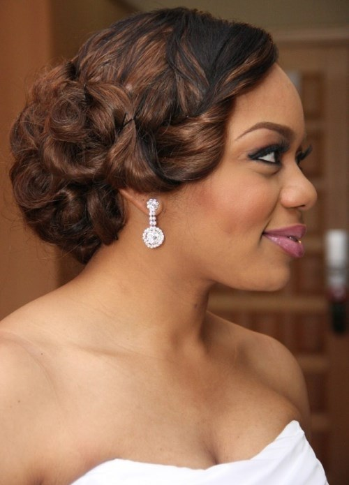 2016 wedding hairstyles for black women the style news network. Black Bedroom Furniture Sets. Home Design Ideas
