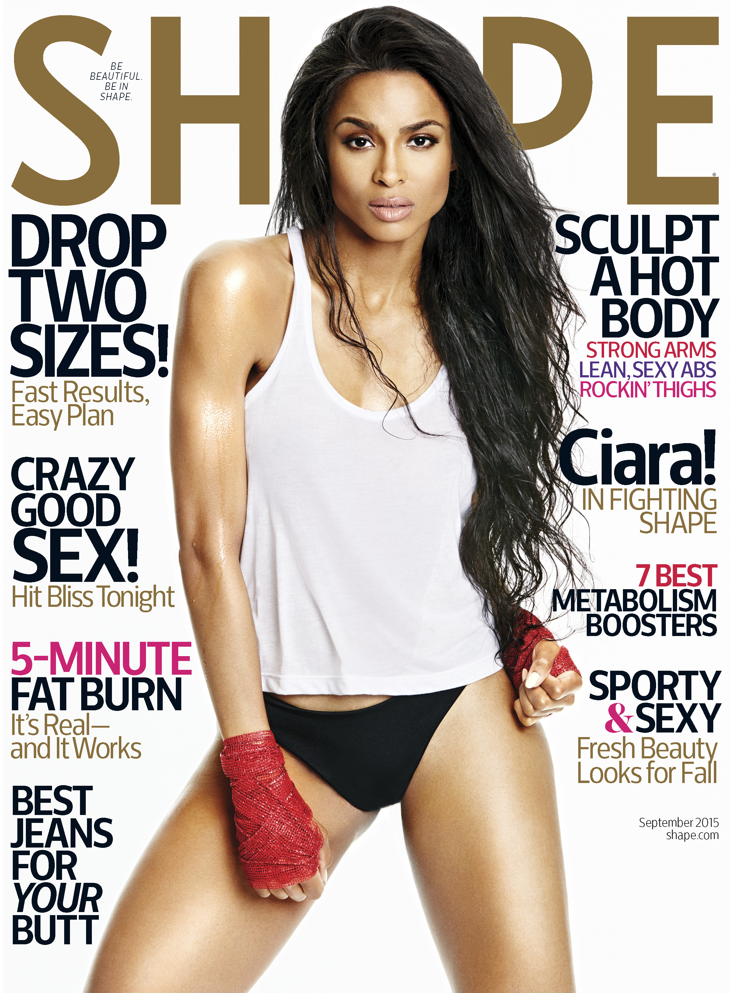 On The Cover - Ciara for Shape Magazine September 2015