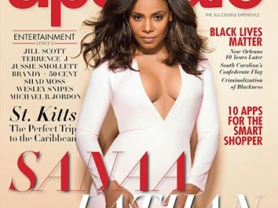 On The Cover - Sanaa Lathan for Upscale Magazine September 2015