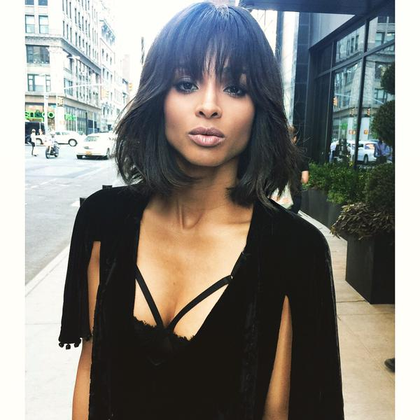 Snip Snip - Ciara Updates Bob With Blunt Bang Trend  3