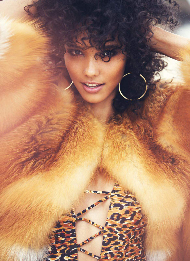 Cora Emmanuel Flaunts Her Curls for ELLE Magazine November 2015 Issue 7