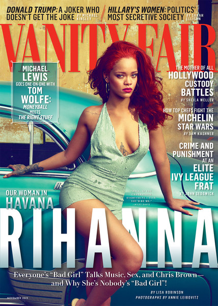 On The Cover - Rihanna for Vanity Fair November 2015 Issue