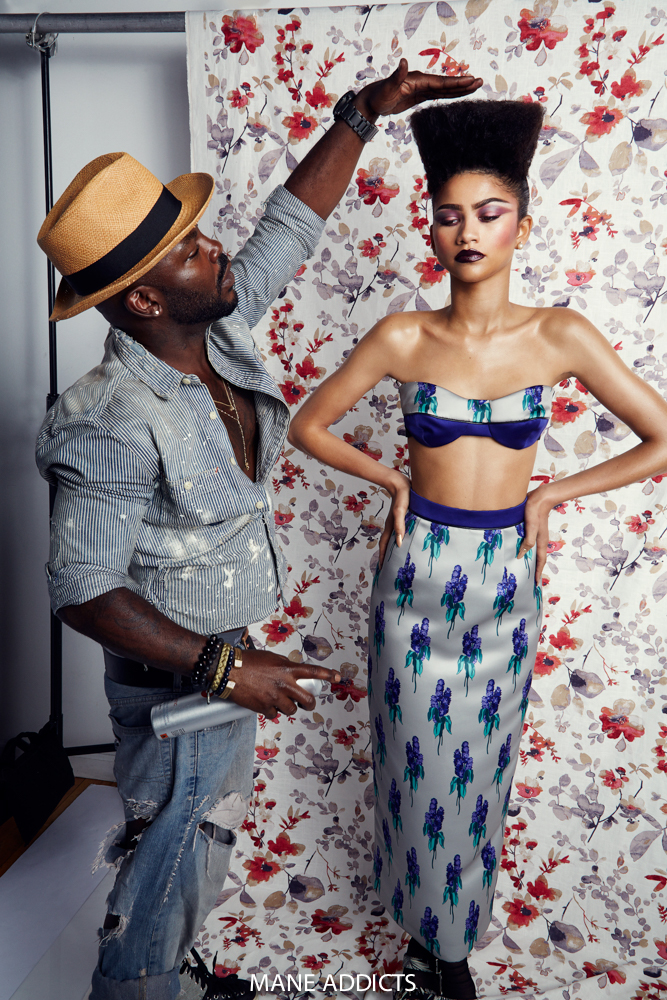 Zendaya Poses for Mane Addicts