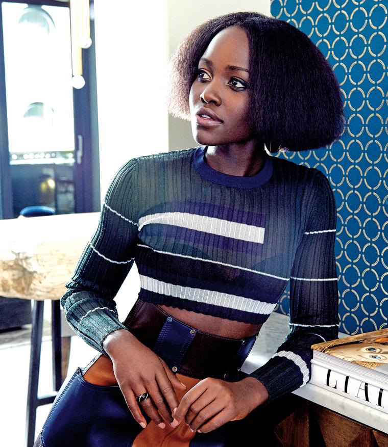Lupita Nyong'o Rocks Textured Bob On Rhapsody Magazine Cover 2