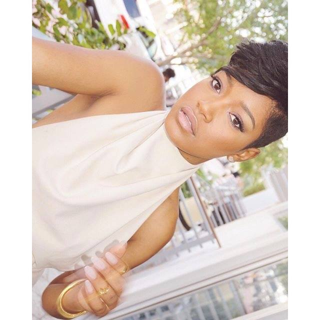 Surprising Keke Palmer Gets Edgy Shaved Haircut For The New Year The Style Short Hairstyles For Black Women Fulllsitofus
