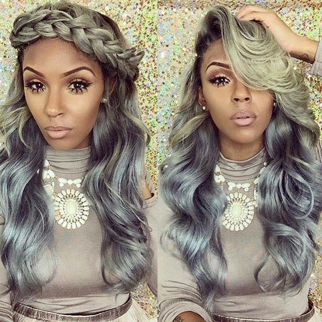 25 New Grey Hair Color Combinations For Black Women 10