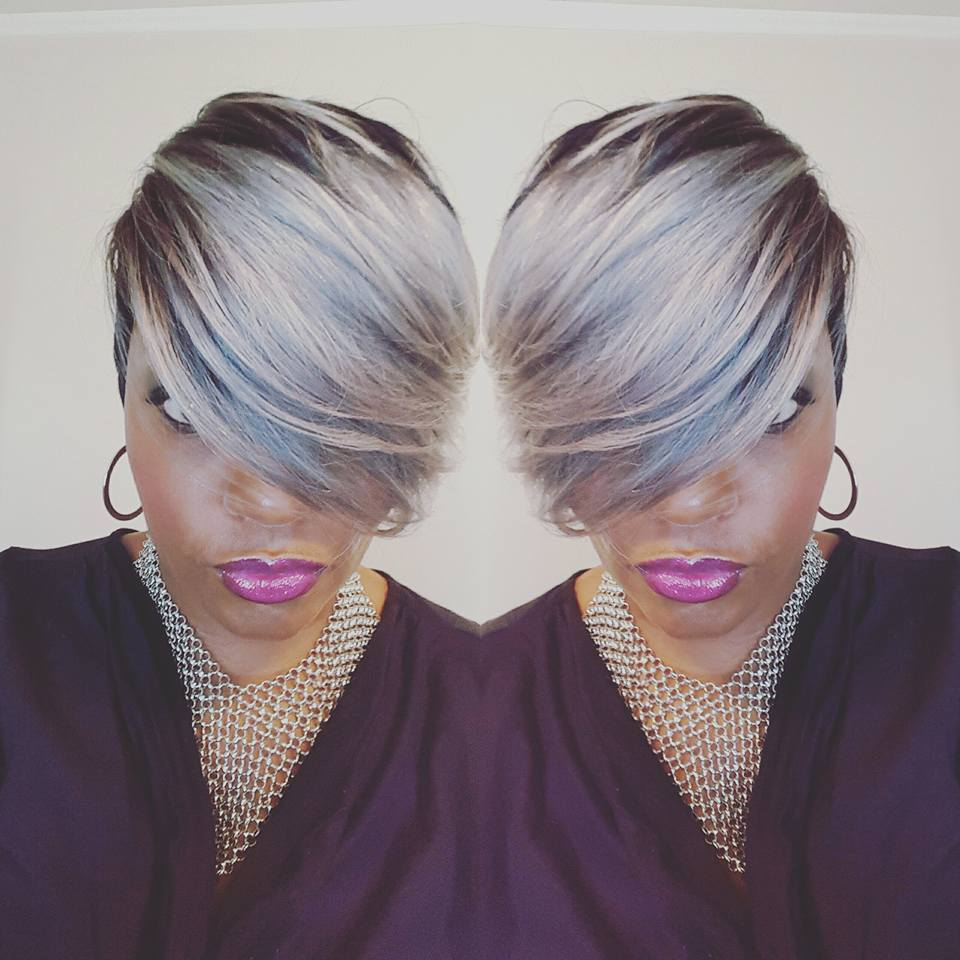25 New Grey Hair Color Combinations For Black Women  15