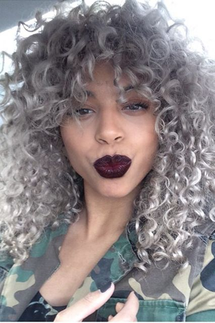 25 New Grey Hair Color Combinations For Black Women 21