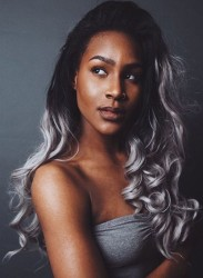 25 New Grey Hair Color Combinations For Black Women 4