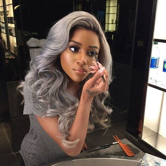 25 New Grey Hair Color Combinations For Black Women 6