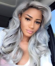 25 New Grey Hair Color Combinations For Black Women 7