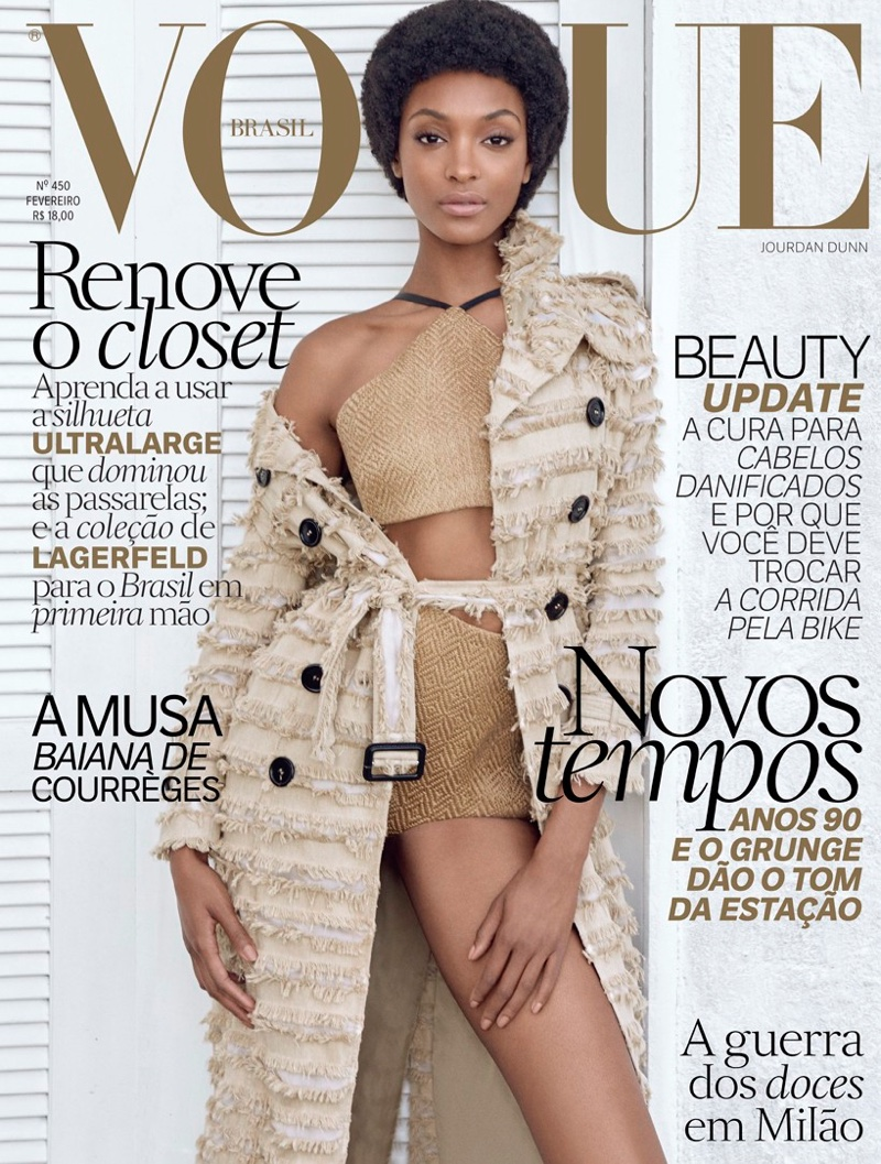 Jourdan Dunn Rocks Afro In VOGUE Brazil February 2016 Issue 2