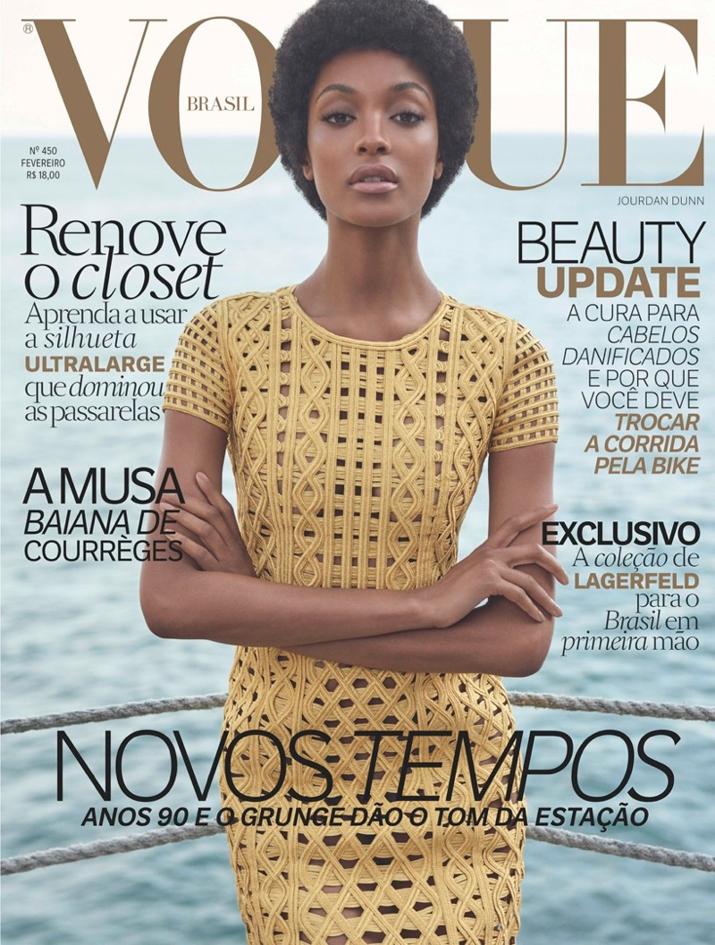 Jourdan Dunn Rocks Afro In VOGUE Brazil February 2016 Issue