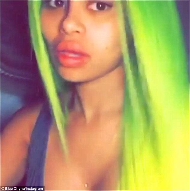 Blac Chyna Rocks Bold Neon Green Hair Color 2