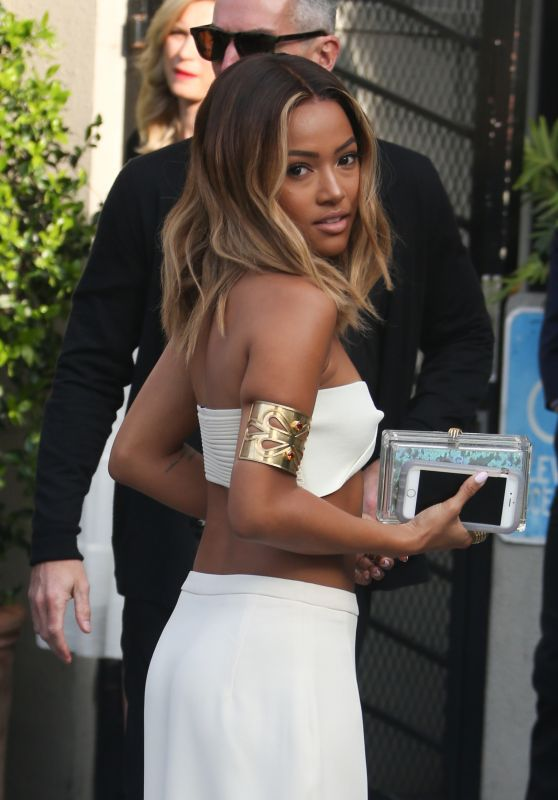 Karrueche Tran Shows Off Blonde Ombre Bob At LA Fashion Awards