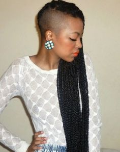 Now Trending - Braids & Twists With Shaved Sides 22