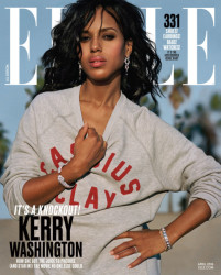 On The Cover - Kerry Washington for Elle Magazine April 2016