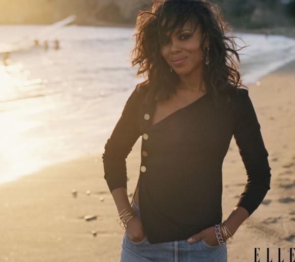 On The Cover - Kerry Washington for Elle Magazine April 2016 3