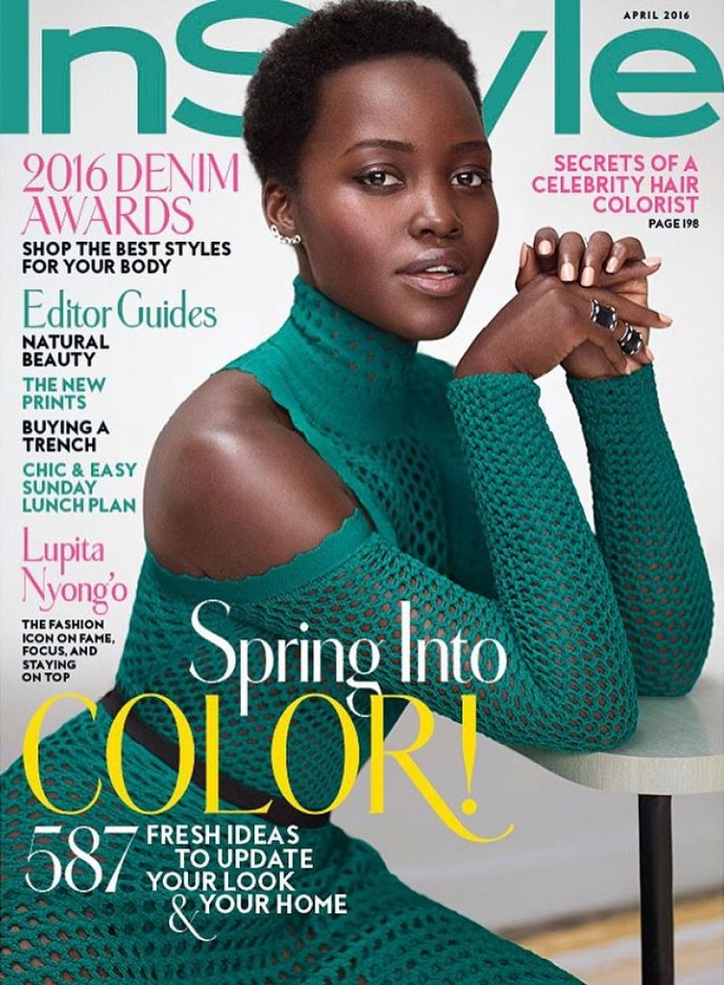 On The Cover - Lupita Nyong'o for InStyle Magazine April 2016