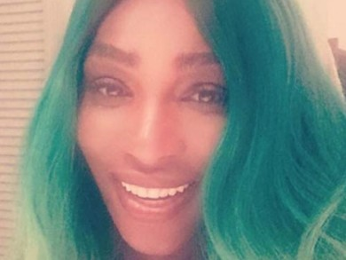 Serena Williams Shocks Everyone By Debuting Green Hair!