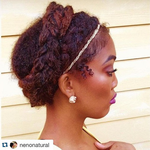 Braided Natural Hair Ideas for Summer 20