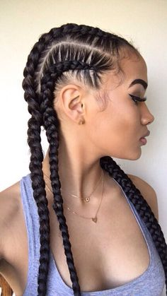 Braided Natural Hair Ideas for Summer 4