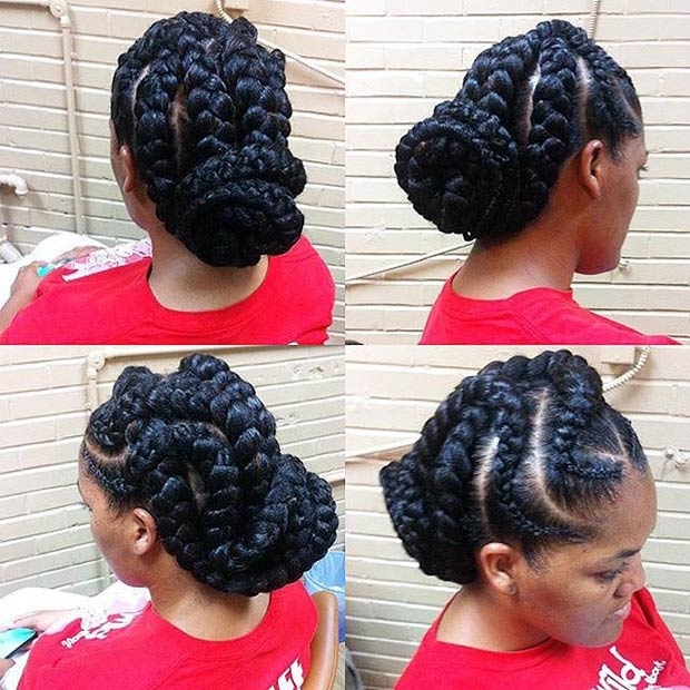 Braided Natural Hair Ideas for Summer 9