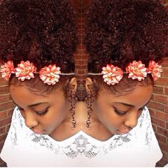 Now Trending - Floral Crowns & Natural Hair 12