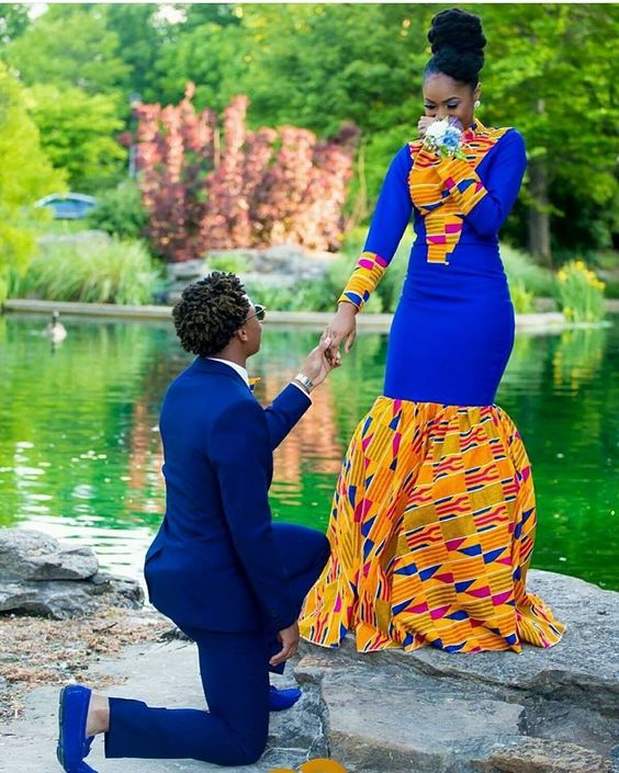 Slayed 30 Times African Print Prom Dresses Stole The