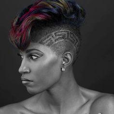 2017 Edgy Haircut Ideas for Black Women 15