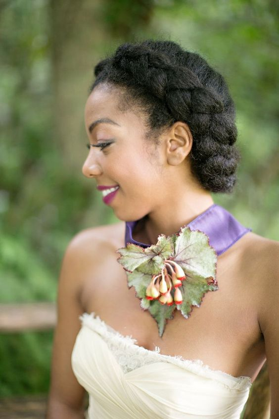 2017 Wedding Hairstyles For Natural Haired Brides - The Style News Network
