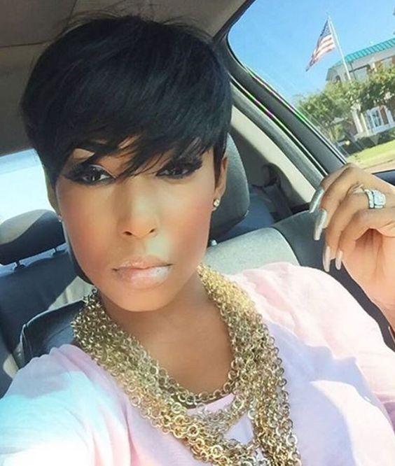 Black celebrity short hair