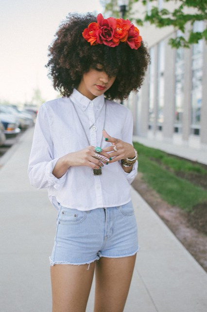 Now Trending - Floral Crowns & Natural Hair 7